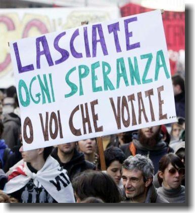 Risultati immagini per Italia Lasciate ogni speranza