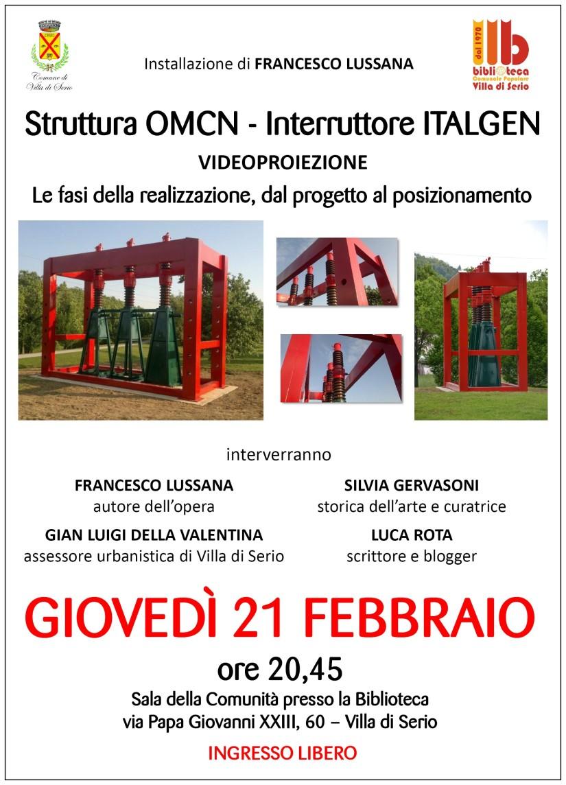 Giovedì 21/02, Villa di Serio (BG), ore 20.45: una serata-evento su e con Francesco Lussana (presentato da Silvia Gervasoni e dame!)