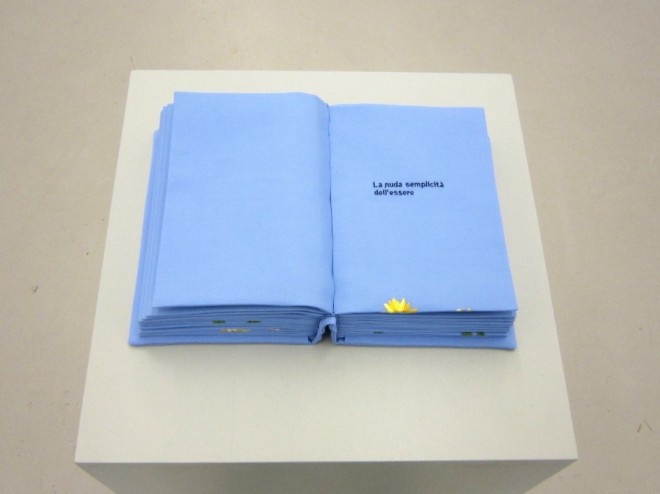 Sentinella, 2009, embroidered fabric book, 22x16x8 cm
