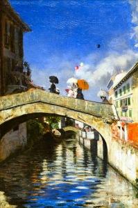 """""""Il Naviglio a Ponte San Marco"""", 1880."""