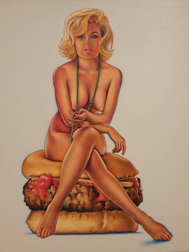 """Nel 1965 il pittore americano Mel Ramos ritrasse Virna Lisi anche come regina pop, nell'opera """"Virnaburger""""."""