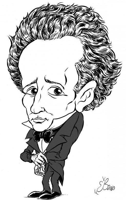 Giacomo Leopardi ritratto da Emiliano Bruzzone (https://scherzatore.wordpress.com/)