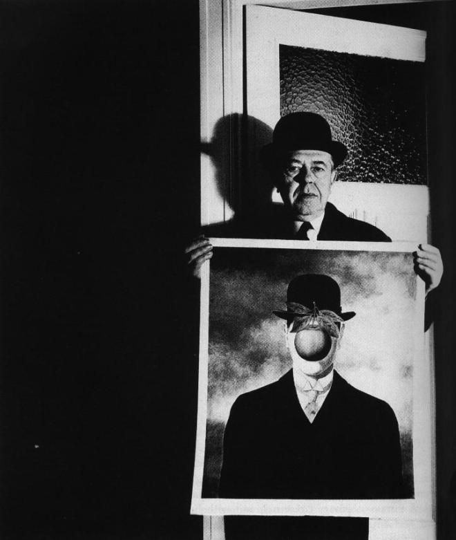 bill_brandt_rene_magritte_with_his_picture_the_great_war_1966