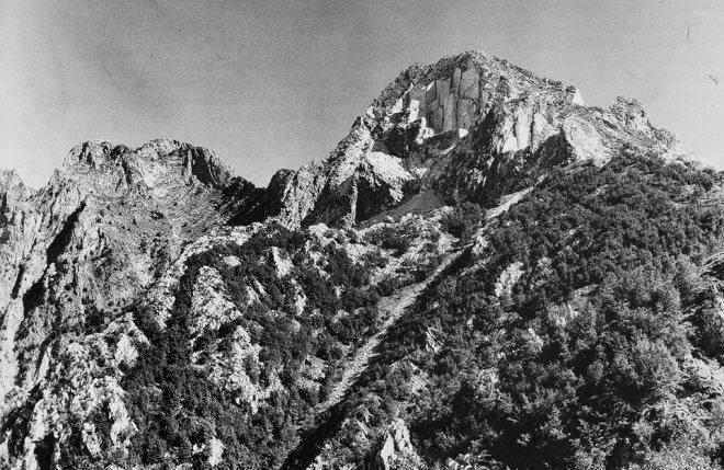 Il Picco Falcovaia nel 1960.