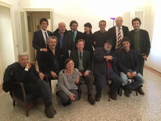 """Il gruppo di """"ammutinati Mondazzoli"""", ora equipaggio della nuova """"Nave di Teseo"""" varata da Elisabetta Sgarbi."""