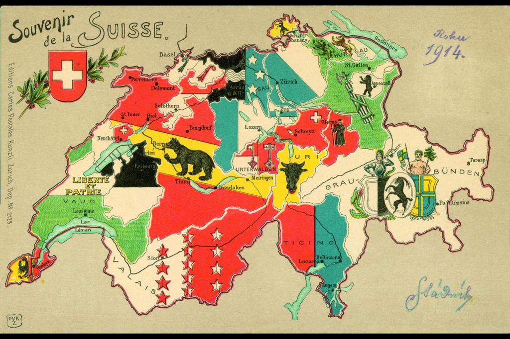 Cartina Cantoni Della Svizzera.Grutli
