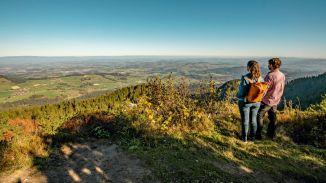 Wanderung Gaeggersteg mit Gantrisch bei Schwarzenburg im Herbst.